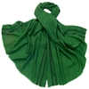 étole laine fine rayures vert 1-min