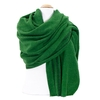 étole laine fine rayures vert 2-min