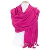 étole cachemire laine rose fushia 2-min