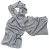 écharpe en cachemire gris clair 1-min