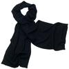 écharpe en cachemire noir 1-min