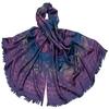 étole pashmina violet dégradé multicolore 1-min