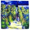carré de soie la classe Le jardin de Monet à Vétheuil Claude Monet 1-min