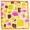 carré de soie mini abstrait orange 1-min