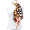 foulard carré en soie jaune florie
