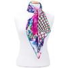 foulard carré de soie rose florie