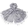 étole pashmina gris perle uni sacha 4