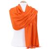 étole pashmina orange uni sacha 2