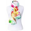 foulard en soie rouge aquarelle  2