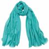 foulard lin vert eau 3
