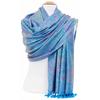 étole bleu turquoise pashmina indien 2 (2)
