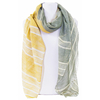 foulard kaki jaune or 1
