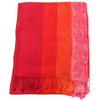 étole pashmina rouge rayures 1