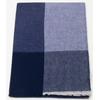 Etole cachemire laine bleu carreaux 1