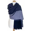 Etole cachemire laine bleu carreaux 2