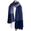 Etole cachemire laine bleu carreaux 3