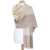 Etole cachemire laine beige carreaux 2