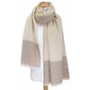 Etole cachemire laine beige carreaux 3