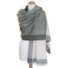 Etole cachemire laine vert carreaux 1