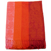 etole pashmina orange rayures 1
