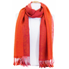 etole pashmina orange rayures 3