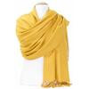 étole jaune cachemire laine charlie 5