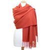 étole laine orange pastel 2