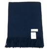 étole laine bleu marine 1