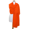 étole orange laine fine 2