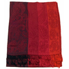 étole rouge noir pashmina motifs rayures 1