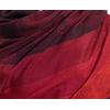 étole rouge noir pashmina motifs rayures 3