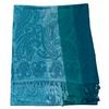 étole vert émeraude pashmina motifs rayures 1
