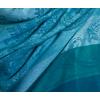 étole vert émeraude pashmina motifs rayures 4