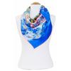 carré en soie Le Pêcher en fleurs bleu Van gogh 2