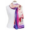 foulard écharpe soie rose tulipes 1