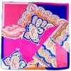 carré de soie rose Lavia