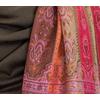 étole brun kaki pashmina motifs 3