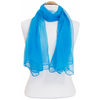 Foulard bleu turquoise mousseline de soie 2