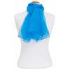 Foulard bleu turquoise mousseline de soie 1