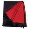étole pashmina noir rouge réversible 1