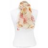 foulard mousseline de soie jaune fleurs 3