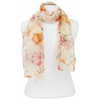 foulard mousseline de soie jaune fleurs 4