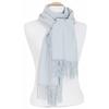 étole bleu gris femme cachemire laine 4