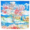 foulard en soie Le Pêcher en fleurs  Van Gogh