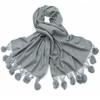 étole gris laine et fourrure ETLF01 1