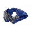 snood maille pois bleu gris EF32 3