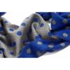 snood maille pois bleu gris EF32 4