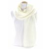 écharpe laine grosses mailles écru  EF43 2
