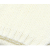 écharpe laine grosses mailles écru  EF43 4