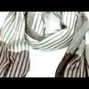 chèche homme rayures beige écru CF134 3